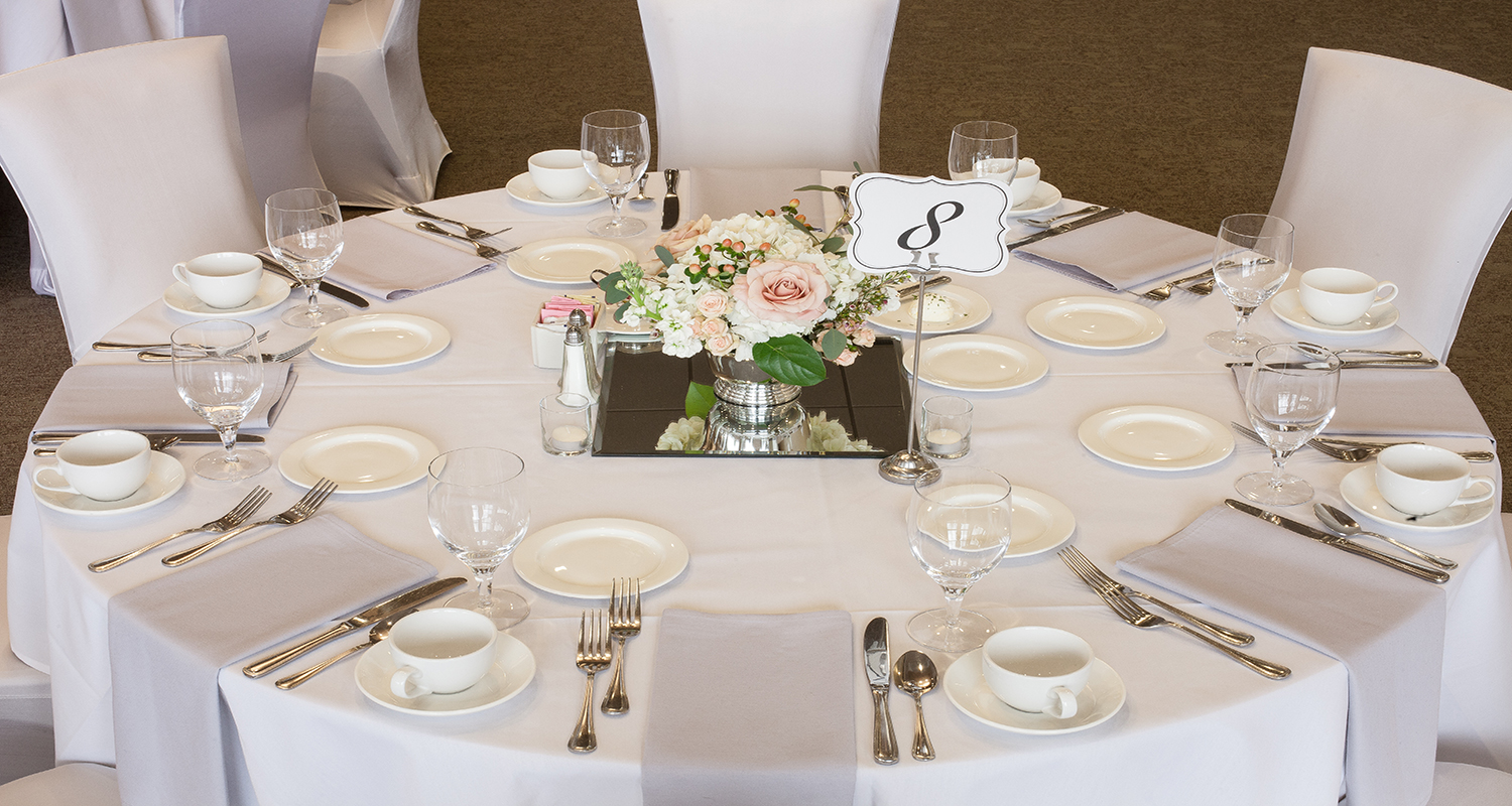 Grandville Wedding Event Table Setting